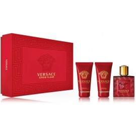 Versace Eros Flame for Men rinkinys vyrams (50 ml. EDP + balzamas po skutimosi 50 ml. + dušo gelis 50 ml.)