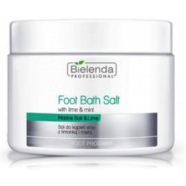 Bielenda Foot Bath Salt White Lime & Mint atkuriamoji vonios druska pėdoms