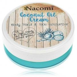 NACOMI Coconut Oil Cream kūno, veido ir rankų drėkiklis 100 ml.