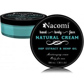 Nacomi Men Natural Cream natūralus kremas vyrams 100 ml.