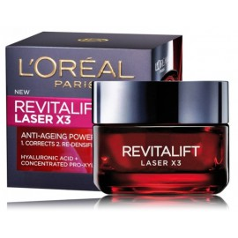 Loreal RevitaLift Laser X3 dieninis veido kremas