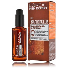 Loreal Paris Men Expert Barber Club Long Beard & Skin Oil barzdos ir veido aliejus vyrams