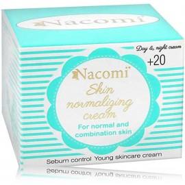 Nacomi Skin Normalizing Cream odą normalizuojantis veido kremas