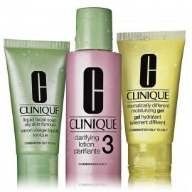 Clinique 3 Step Skin Care System rinkinys veido priežiūrai (veido muilas + valomasis losjonas + drėkinamasis gelis)