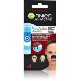 Garnier Pure Active Anti-Blackhead Pore Strips pleistrai nuo inkštirų 4 vnt.