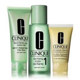 Clinique 3 Step Intro Kit Skin Type 1 rinkinys veido priežiūrai (veido muilas + valomasis losjonas + drėkinamasis losjonas)