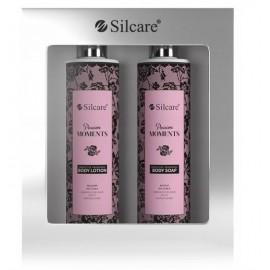 Silcare Passion Moments kūno priežiūros rinkinys (250 ml. kūno losjonas + 250 ml. skystas muilas)