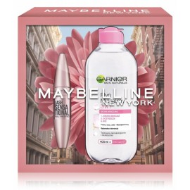 Maybelline Lash Sensational rinkinys (blakstienų tušas 9.5 ml. + micelinis vanduo 400 ml.)