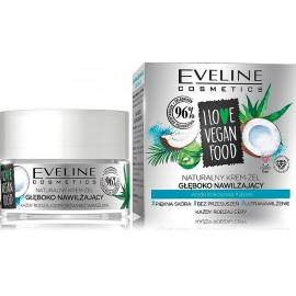 Eveline I Love Vegan Food Coconut Water & Aloe drėkinamasis veido gelis
