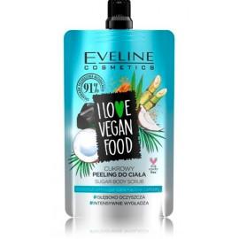 Eveline I Love Vegan Food Coconut Detox kūno šveitiklis
