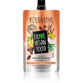 Eveline I Love Vegan Vanilla Latte Sugar Body Scrub kūno šveitiklis