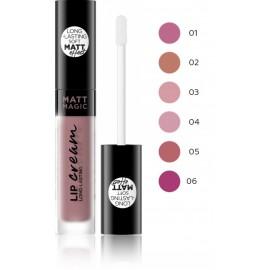 Eveline Matt Magic Lip Cream matiniai lūpų dažai 4,5 ml.