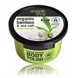 Organic Shop Organic Bamboo & Sea Salt Body Polish kūno šveitiklis