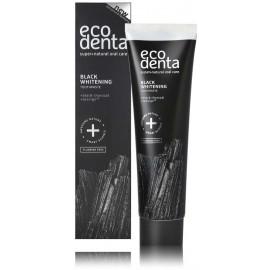 Ecodenta Black Whitening Toothpaste juoda balinamoji pasta su aktyvuota anglimi