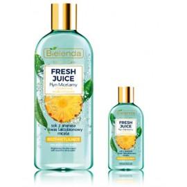 Bielenda FRESH JUICE Brightening Micellar Liquid skaistinantis micelinis vanduo su citrusiniu vandeniu ir ananasų sultimis