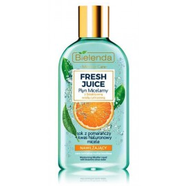 Bielenda FRESH JUICE Moisturizing Micellar Liquid drėkinamasis micelinis vanduo su citrusiniu vandeniu ir apelsinų sultimis