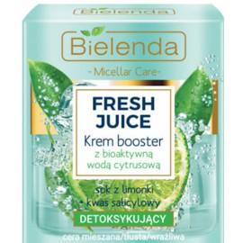 Bielenda FRESH JUICE Detoxifying Face Cream Booster detoksikuojantis veido kremas su citrusiniu vandeniu