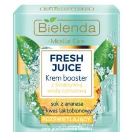 Bielenda FRESH JUICE Illuminating Face Cream Booster švytėjimo suteikiantis veido kremas su citrusiniu vandeniu ir ananasų sultimis