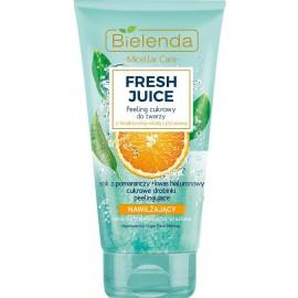 Bielenda FRESH JUICE Moisturizing Face Sugar Scrub drėkinamasis šveitiklis su citrusiniu vandeniu ir apelsinų sultimis