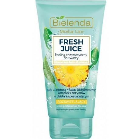 Bielenda FRESH JUICE Illuminating Face Enzymatic Peeling šveitiklis su citrusiniu vandeniu ir anansų sultimis