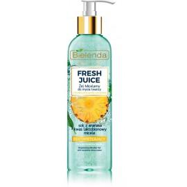 Bielenda FRESH JUICE Brightening Micellar Gel skaistinantis micelinis gelis su citrusiniu vandeniu ir ananasų sultimis