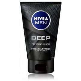 NIVEA Men Deep Clean Face & Beard Wash veido ir barzdos prausiklis vyrams