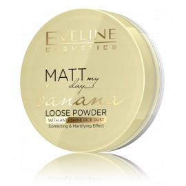 Eveline Matt My Day Banana Loose Powder Correcting & Mattifying biri pudra