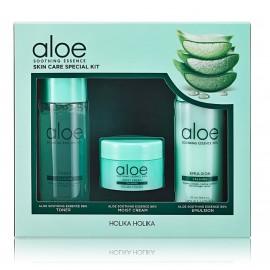 Holika Holika Set Aloe Soothing Essence Skin Care Special Kit rinkinys (50 ml. tonikas + 20 ml. kremas + 50 ml. emulsija)