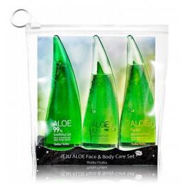 Holika Holika Set Jeju Aloe Face & Body Care Set rinkinys (55 ml. gelis + 55 ml. valomosios veido putos + 55 ml. dušo želė)