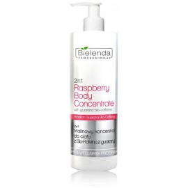 Bielenda Professional 2in1 Raspberry Body Concentrate aviečių kvapo kūno koncentratas