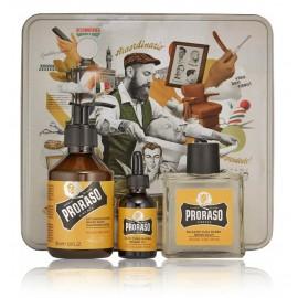 Proraso Wood & Spice rinkinys barzdai (200 ml. šampūnas + 30 ml. aliejus + 100 ml. balzamas po skutimosi)