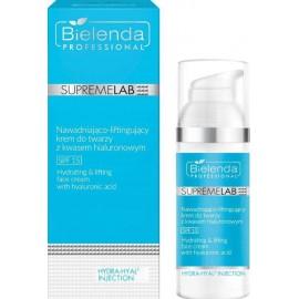 Bielenda Professional SupremeLab Hydrating & Lifting Face Cream With Hyaluronic Acid SPF15 pakeliantis veido kremas