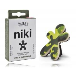 Mr & Mrs Fragnance Niki Pine & Eucalyptus pakartotinai užpildomas oro gaiviklis automobiliui