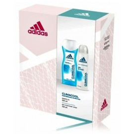 Adidas Climacool Woman Gift Set rinkinys asmens higienai (Antiperspirantas 150 ml. + dušo gelis 250 ml.)