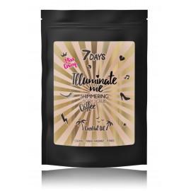 7DAYS Illuminate Me Shimmering Coffee Body Scrub Miss Crazy kūno šveitiklis