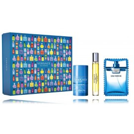 Versace Man Eau Fraiche rinkinys vyrams (100 ml. EDT + 10 ml. EDT + 75 ml. pieštukinis dezodorantas)