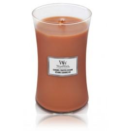 WoodWick Caramel Toasted Sesame aromatinė žvakė