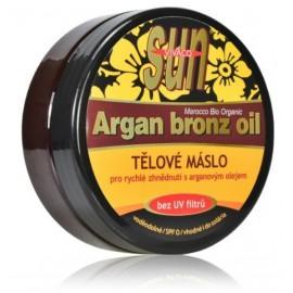 Vivaco SUN Argan Bronz Oil kūno sviestas su argano aliejumi deginimuisi 200 ml.