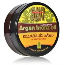 Vivaco SUN Argan Bronz Oil kūno sviestas po deginimosi su švytinčiomis dalelėmis