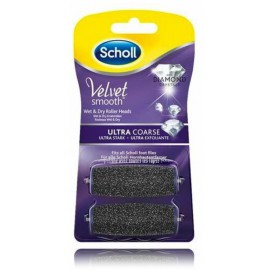 Scholl Velvet Smooth itin šiurkščios šveičiamosios pėdų šveitiklio galvutės su deimantiniais kristalais