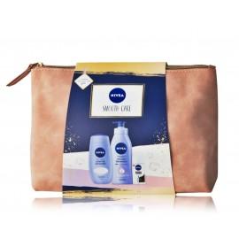 Nivea Smooth Care rinkinys (400 ml. kūno pienelis + 250 ml. dušo kremas + 50 ml. antiperspirantas + kosmetinė)