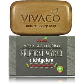 Vivaco Anti - Acne Soap With 3% Ichthyol muilas į spuogus linkusiai odai