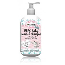 Nacomi Mild Baby Wash & Shampoo kūno prausiklis ir šampūnas vaikams