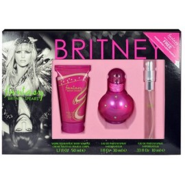 Britney Spears Fantasy rinkinys moterims (30 ml. EDP + 10 ml. EDP +  50 ml. kūno losjonas)