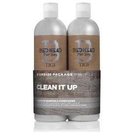 Tigi Bed Head For Men Clean Up rinkinys vyrams (750 ml. šampūnas + 750 ml. kondicionierius)