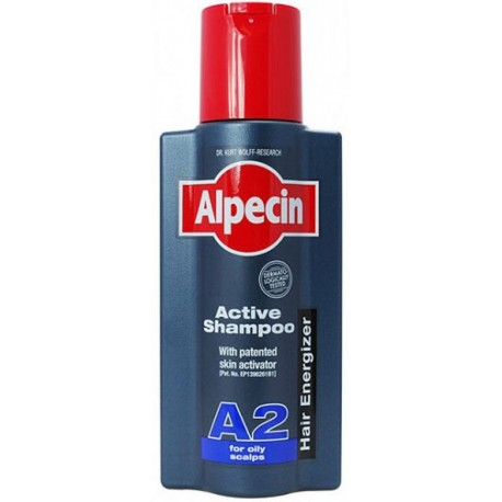 Alpecin Active Shampoo A2 šampūnas riebiems plaukams 250 ml.