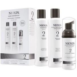 Nioxin Hair System 2 rinkinys ploniems ir normaliems plaukams (šampūnas + kondicionierius + gydomoji priemonė) 340 ml.