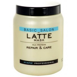 Stapiz  Basic Salon Latte kaukė su pieno baltymais 1000 ml.