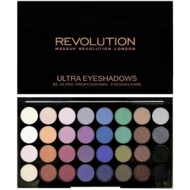 Makeup Revolution Ultra Eyeshadows Palette Mermaids Forever šešėlių paletė 30 g.