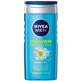 Nivea Men Power Refresh dušo gelis vyrams 250 ml.